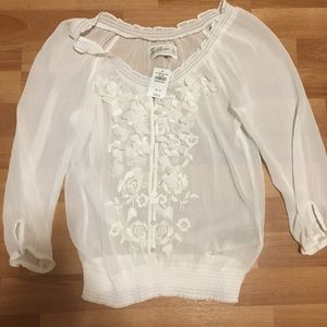 Abercrombie & Fitch Sheer Blouse in Size Small.